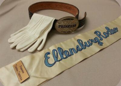 Belt, Gloves and Sash – Teresa Chepoda, 1979 Rodeo Princess