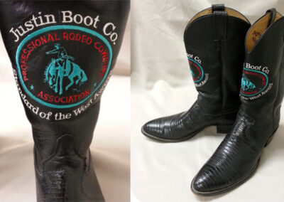 Boots given to Rodeo Board Director, Allen Faltus.